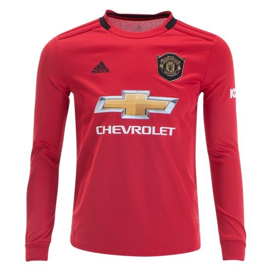 adidas Anthony Martial Manchester United Youth Long Sleeve Home ...