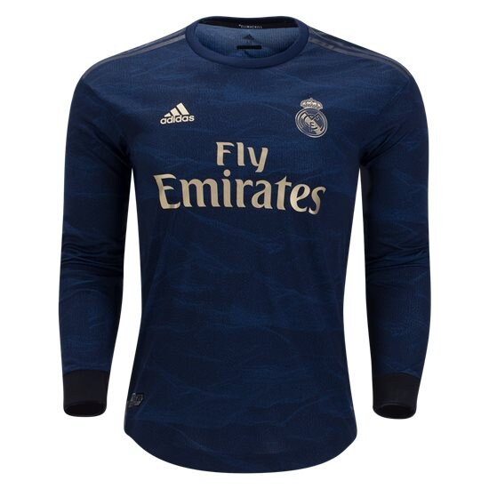 adidas Real Madrid Authentic Long Sleeve Away Jersey 19/20 – Buy ...